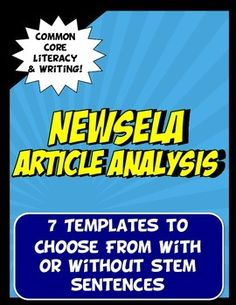 NEWSELA is a great, free online resource because it allows a student to choose his/her own lexile level to read level appropriate articles. This activity has seven templates to choose from and is aligned with Common Core Literacy and Writing standards for ELA, history and science.