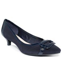 945aeee4087 Anne Klein Melanie Pointy-Toe Kitten-Heel Pumps Shoes - Pumps - Macy s