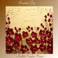 Original   abstract contemporary fine art  palette knife floral painting by Nicolette Vaughan Horner    Love this!
