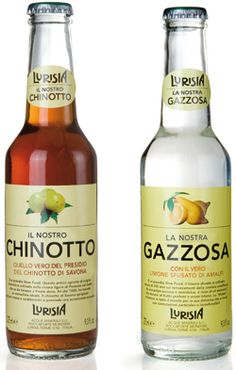 Chinotto & Gazzosa, italian drinks #bottles