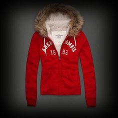 ★内側がボアなのでとっても暖かそうですね♪  ★大人気のファー!が贅沢に使われてかなり豪華!   ★アバクロを代表するロゴアップリケとロゴ刺繍がポイント! #ITShop