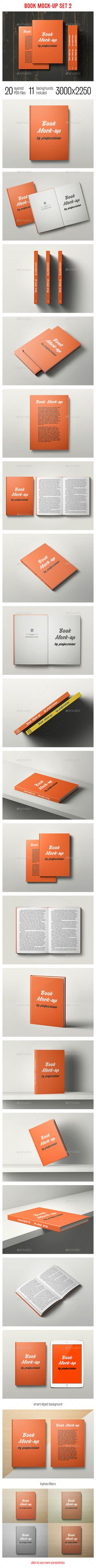 Book Mock-Up Set 2  #page #paper #photorealistic • Available here → http://graphicriver.net/item/book-mockup-set-2/13065930?s_rank=268&ref=pxcr