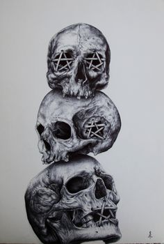 See no Evil - Hear no Evil - Speak no Evil ballpoint pen 29.7x42cm