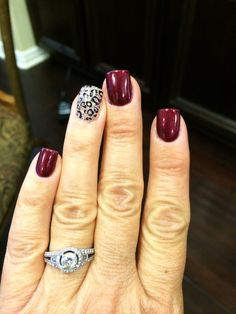 Fall nails burgundy cheetah nails - New Pin Pretty Nail Designs, Colorful Nail Designs, Nail Art Designs, Toe Nail Designs For Fall, Gorgeous Nails, Love Nails, Pretty Nails, Cute Nail Colors, Cheetah Nails