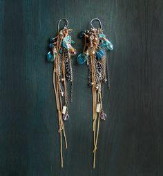 Extra long earrings. Kyanite earrings. Extreamly von MADAMBLUEONE, $20.00
