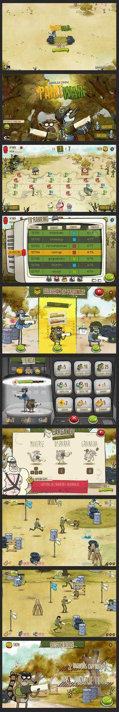 http://www.behance.net/gallery/PAINTWAR-Cartoon-Network-Regular-Show/9884143