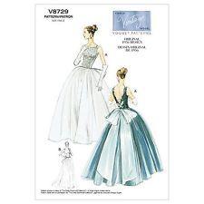 Vogue Sewing Pattern 8729, Retro 1956 Evening Dress, Sizes 14 - 20 New Wedding