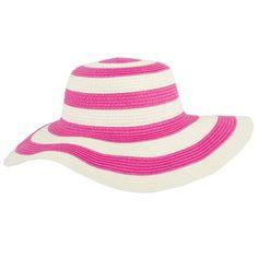 Junior Gaultier Pink and Cream Stripe Summer Hat