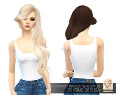 Sims 4 Hairs ~ Miss Paraply: Skysims 267 Lisa hair retextured My Sims, Sims Cc, Lisa Hair, Sims 4 Blog, Sims 4 Characters, Sims 4 Update, Sims 4 Cc Finds, Sims Mods, The Sims4