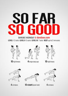 So Far So Good is a cardiovascular and aerobic workout by Darebee, you can do any time, anywhere. Boxing Training Workout, Gym Workout Tips, Aerobics Workout, At Home Workout Plan, Running Workouts, Fun Workouts, At Home Workouts, Workout Plans, Quad Exercises