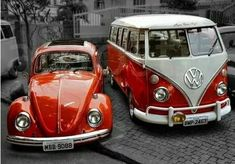 Volkswagen vw Bus and beetle. just like the X Bros Apparel T-shirt… Volkswagen Bus, Volkswagen Vintage, Volkswagen Transporter, Vintage Vans, Vw T1, Vw Camper, Wolkswagen Van, Van Vw, Combi Ww