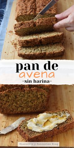 Quick oatmeal bread without flour Healthy Breakfast Recipes, Healthy Baking, Healthy Desserts, Tortas Light, Real Food Recipes, Dessert Recipes, Oatmeal Bread, Good Food, Yummy Food
