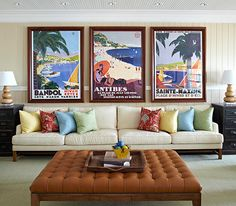 Large scale vintage posters & bright colors