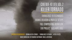 In this training series you'll learn how to create the tornado scene from the trailer. We'll cover a lot of topics including modeling & texturing, advanced Turbulence FD techniques, debris creation and a full compositing workflow in After Effects.  PROJECT FILES... How do I get them?  Email a grab of your Vimeo invoice to: ben@benwattsdesign.com and I'll reply with the C4D files.