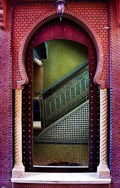 Vibrant entry in Morocco