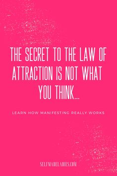 The secret behind & Secret& learn how the law of attraction actually works and how you can manifest your dream life with the LOA. It& The post The Secret Behind & Secret& – How the Law of Attraction Works appeared first on Cherise on Attraction. Law Of Attraction Planner, Law Of Attraction Money, Law Of Attraction Quotes, Self Love Affirmations, Law Of Attraction Affirmations, Coaching, Manifestation Law Of Attraction, Manifesting Money, How To Manifest