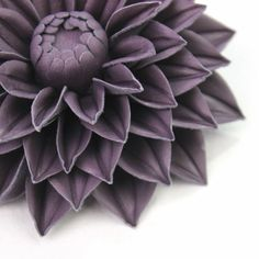 Leather flowers 3rd leather anniversary for her dahlia