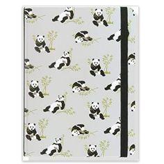 Grey patterned panda journal for $9.81 from www.pandathings.com