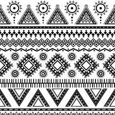 Aztec seamless pattern  Can be used in fabric design for making of clothes, accessories; decorative paper, wrapping, envelope; web design, etc  Swatches of seamless pattern included in the file   Stock Vector