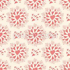 Wirbelnde Herzen Designmuster by Svetlana Bataenkova at patterndesigns.com Vektor Muster, Surface Design, Designer, Valentines Day, Tapestry, Patterns, Decor, Valentine's Day Diy, Hanging Tapestry