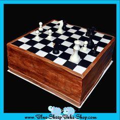Chess Board Cake from bluesheepbakeshop.myshopify.com