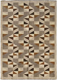 midcenturia: Mid-Century Swedish kilim by Brita Grahn. via Nazmiyal Collection                                                                                                                                                      Plus