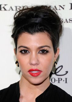 Kourtney Kardashian's classic red lips