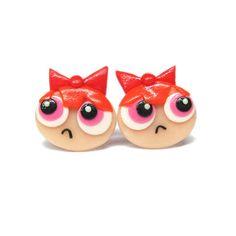 The Powerpuff Girls Earrings, Funny Jewelry, Polymer Clay Earrings, Stud Earrings, Post Earrings, Birthday Gifts Ideas, Colorful Earrings