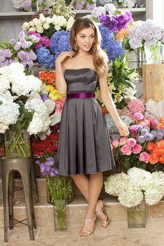 Bridesmaid Dress Idea. Sans that hideous Barney belt:)