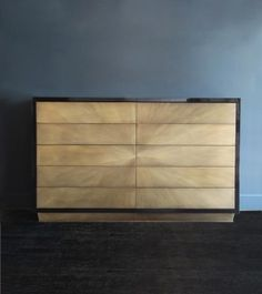 Blackman Cruz 'Starbust' 10-Drawer Cabinet by Damian Jones. Brass, black lacquered mahogany