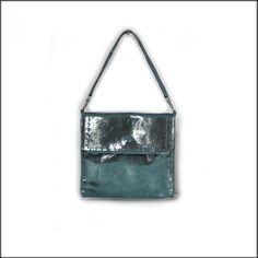 Petit sac pochette en cuir - Pochette femme soirée, pochette cuir argentée,  sac cuir 584666a8a63