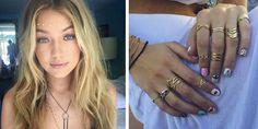 Gigi Hadid's Coachella nail art