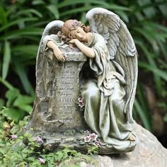 Superbe Large Weeping Angel, Inspiring Angel Statues, Divine Angel Statues Outdoor  Garden Statues, Outdoor