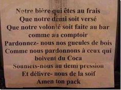 Prière de la bière ♥