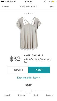 Stitch Fix American Able Alissa Cut Out Detail Knit Top