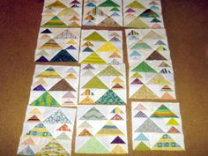 I had a lot of requests and questions on this quilt so I thought I would do a little update and info about it.    This was a pattern from a magazine that I have yet to find - original name is Mountain
