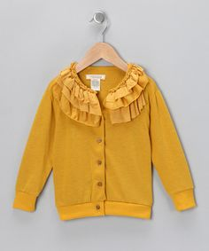 Loving this Cavelle Kids Dandelion Frill Icing Cardigan - Toddler on #zulily! #zulilyfinds