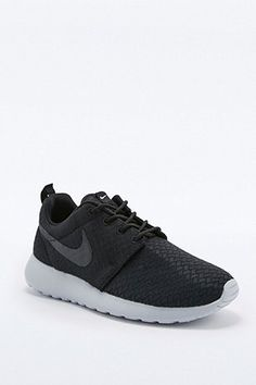 Shop Nike Roshe Run Black and Grey Trainers at Urban Outfitters today. f1594cc013