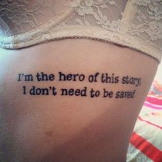 Regina lyrics tattoo. love the placement and the song!