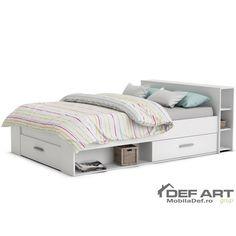 POCKET bed – white Source by simonalevec Web Storage, Make Dreams Come True, Oak Color, White Bedding, Toddler Bed, Sweet Home, Bedroom, Modern, Furniture