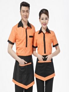 Hotel Uniform Summer Clothing For Waiters And Waitress Pot Attendant . Cafe Uniform, Waiter Uniform, Hotel Uniform, Uniform Dress, Uniform Shop, Corporate Uniforms, Staff Uniforms, Boys Uniforms, Kellner Uniform