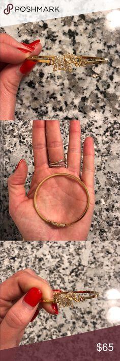Kate spade gold elephant bracelet Kate spade gold elephant bracelet  14 ct gold plated Crystals  perfect condition kate spade Jewelry Bracelets