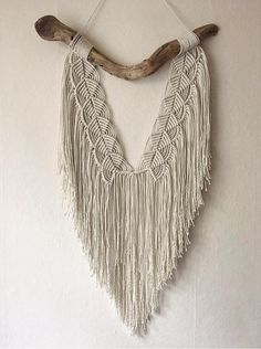 Macramé and Driftwood Wall Hanging