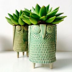 Mr Milly's Ceramic owl vases