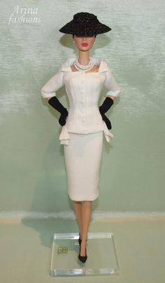 VINTAGE REPLICA  Outfit for Silkstone Barbie,Vintage Barbie,Victoire Roux,Classic Fashion Royalty dolls OOAK