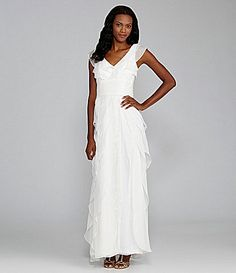 Adrianna Papell Tiered Gown Inexpensive Wedding DressesInformal