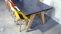Plywood Zinc Dining Table