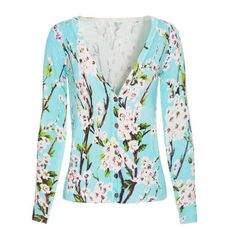 2015 New Spring Cardigans Women Peach Blossom Flower Print Long Sleeve V Neck Cardiga Women Cardigan Feminino Sweater shirt-in Cardigans from Women's Clothing & Accessories on Aliexpress.com | Alibaba Group