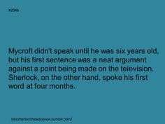 Sherlock Head Canon: Wow. I wrote a little fanfic just along these lines and I KNOW it was before I saw this!