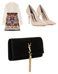"""11"" by tasya-thafaki on Polyvore featuring Anna Sui, Sophia Webster and Yves Saint Laurent"